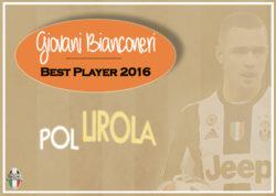 Giovani Bianconeri – Best Player 2016: vince Pol Lirola