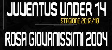 Rosa Giovanissimi Under14 Juventus 2017/18