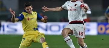 Mattiello in azione contro il Milan