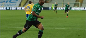 Alhassane Soumah in gol col Cercle Brugge